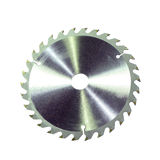 Circular saw blade isolated Stock Images