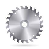 Circular saw blade. Metal blade of circular saw on white background royalty free illustration