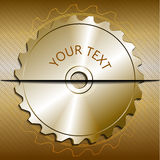 Circular saw blade on a metallic background Stock Photos