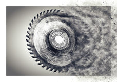 Circular saw blade - with motion blur Royalty Free Stock Photo