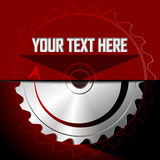 Circular saw blade on the red background Stock Image