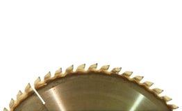 Circular saw blade taken closeup on white background. Stock Images