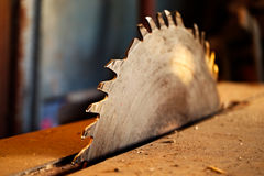 Circular saw blade without a tooth Royalty Free Stock Image