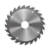 Circular saw blade for wood isolated on. White Royalty Free Stock Images