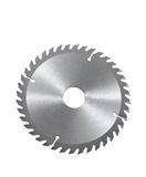 Circular saw blade for wood isolated on white Stock Photos