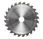 Circular saw blade for wood work Royalty Free Stock Photography