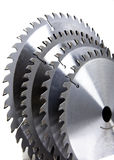 Circular Saw blades. On a white background Royalty Free Stock Photography