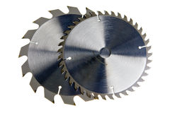 Circular Saw blades. Close up on a white background Royalty Free Stock Photos