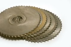 Circular-saw blades Royalty Free Stock Image