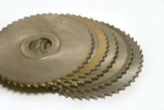 Circular-saw blades. Metall circular saw blades on white background Royalty Free Stock Image