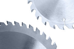 Circular saw blades Royalty Free Stock Photos