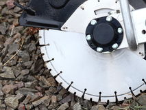 Circular saw blades concrete cutter Stock Image
