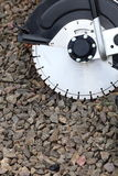 Circular saw blades concrete cutter Royalty Free Stock Images