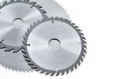 Free Circular Saw Blades For Wood Isolated On White Stock Photo - 18838480