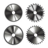 Circular saw blades. Set of of circular saw blades isolated on white. Vector illustration Royalty Free Stock Photo