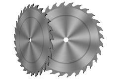 Circular saw carbon blade. Vector illustration of a circular saw carbon blade Royalty Free Stock Photo