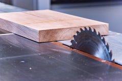 Circular saw for carpentry. Circular saw for furniture production Royalty Free Stock Photos