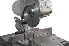 Circular saw in close up Stock Image