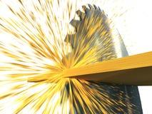 Circular saw cuts wood Stock Photos
