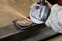 Circular saw detail Stock Images