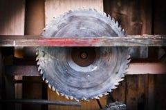 Circular saw. Detail of circular saw. Danger concept royalty free stock photo