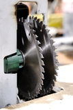 Circular saw double Stock Images