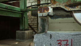Circular saw for granite stone stock video
