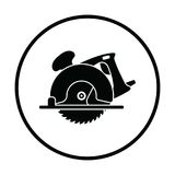 Circular saw icon. Thin circle design. Vector illustration vector illustration
