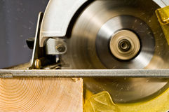 Circular Saw In Action Stock Photography