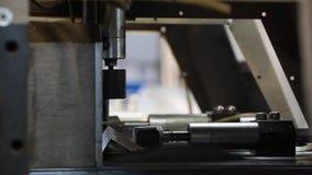 Circular saw. Industrial automatic circular saw. saw at work stock video