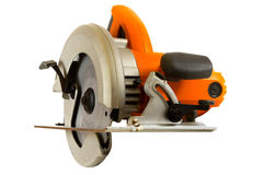 Circular Saw. Isolated on a white background Stock Photos