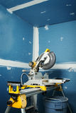 Circular saw in room Royalty Free Stock Photography