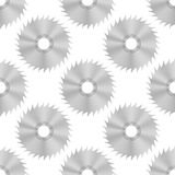 Circular Saw Steel Disc Seamless Pattern Royalty Free Stock Image
