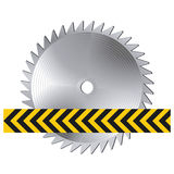 Circular saw warning sign Royalty Free Stock Image