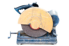 A circular saw. On white background royalty free stock photo