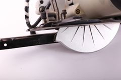 Circular Saw. On white background . Hand tools royalty free stock image