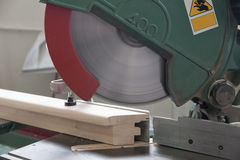 Circular saw for wood. Close up royalty free stock photography