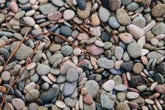Circular sea pebbles Stock Photos