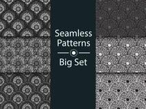 Circular seamless pattern of colored labyrinth, BIG SET, flat. Circular seamless pattern of colored labyrinth, BIG SET, flat Royalty Free Stock Photo