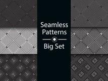 Circular seamless pattern of colored labyrinth, BIG SET, flat. Royalty Free Stock Image