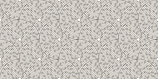 Circular seamless pattern of colored labyrinth with dots, flat Royalty Free Stock Images