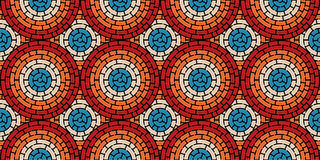 Circular seamless pattern of colored labyrinth, flat.  Stock Photography