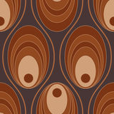 Circular seamless pattern Royalty Free Stock Images