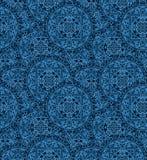 Circular seamless pattern of traditional motifs Royalty Free Stock Image