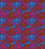 Circular seamless pattern of traditional motifs Stock Image