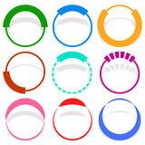 9 circular segmented circle preloader user interface - UI elemen. Ts - Royalty free vector illustration Stock Photography