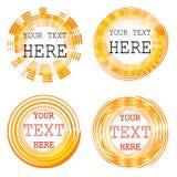 Circular shape frames set, VECTOR stylized sun Royalty Free Stock Photos