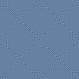 Circular shapes creates an interesting seamless blue pattern. Stock Image