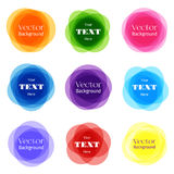 Circular Shapes Frame Set. Vector Rounded Banner Frames On White Background Stock Photography