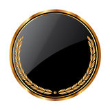 Circular shield. Art illustration of a Circular shield to fill text Stock Image